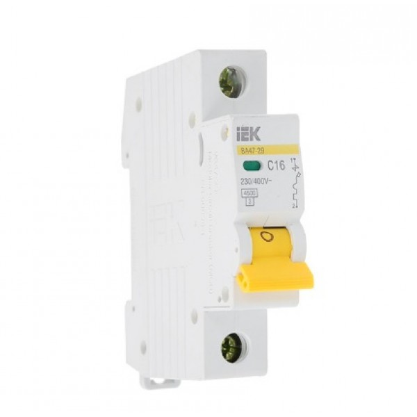 Автоматический выключатель MVA20-1-032-C ВА47-29, 1Р, 32А, 4,5кА х-ка С