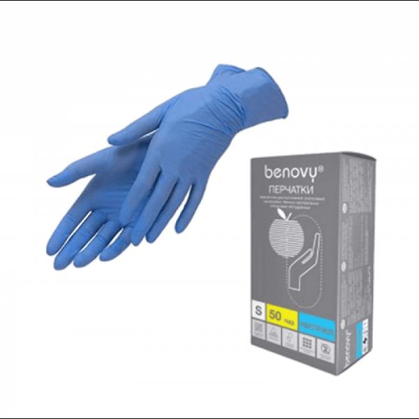 Перчатки нитриловые benovy (смотровые неопудренные)