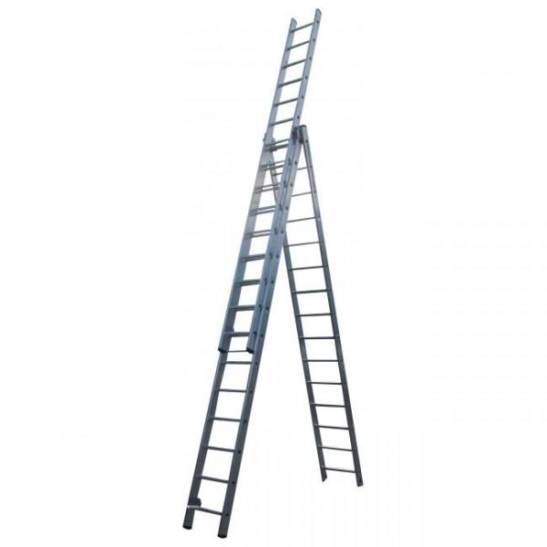 Лестница алюминиевая 3х секционная 14 ступеней