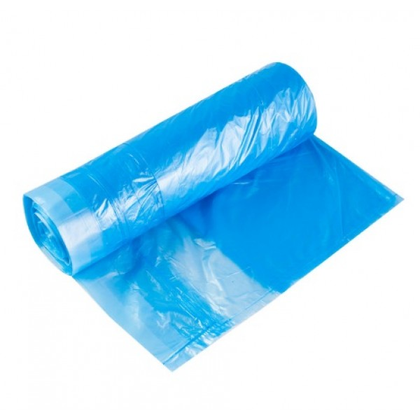Мешки для мусора с завязками, 60л, 20шт., 13мкм, синий