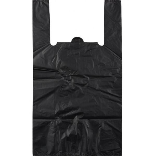 Пакет майка ПВД 28*55 30мкм черный