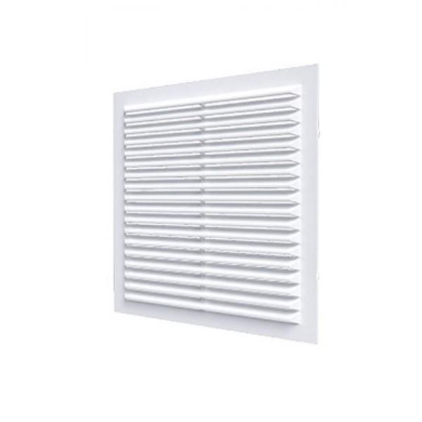 Решетка вентиляционная неразъемная, наклонные жалюзи, 138х138мм